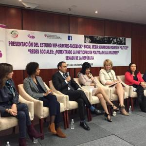 Presentation of the study 'Social Media: Advancing Women in Parliaments?' at the Mexican Senate